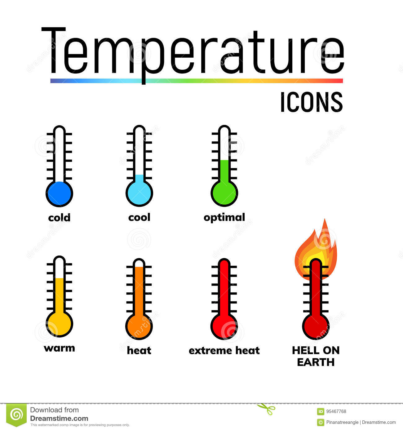 Temperature Icon Clip Art Stock Illustration