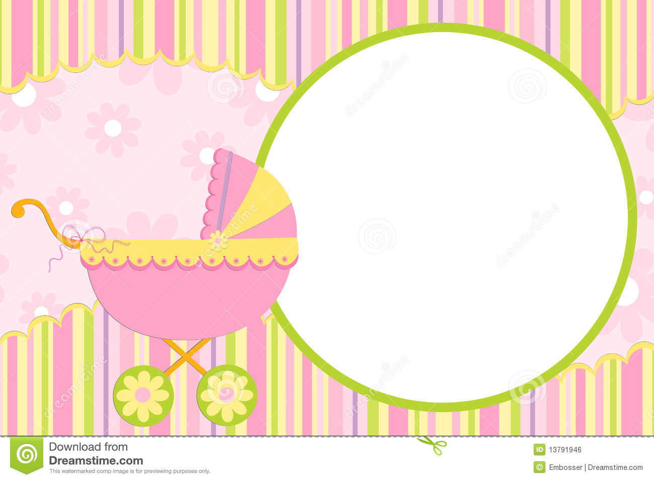 Template For Baby S Photo Album Royalty Free Stock Image