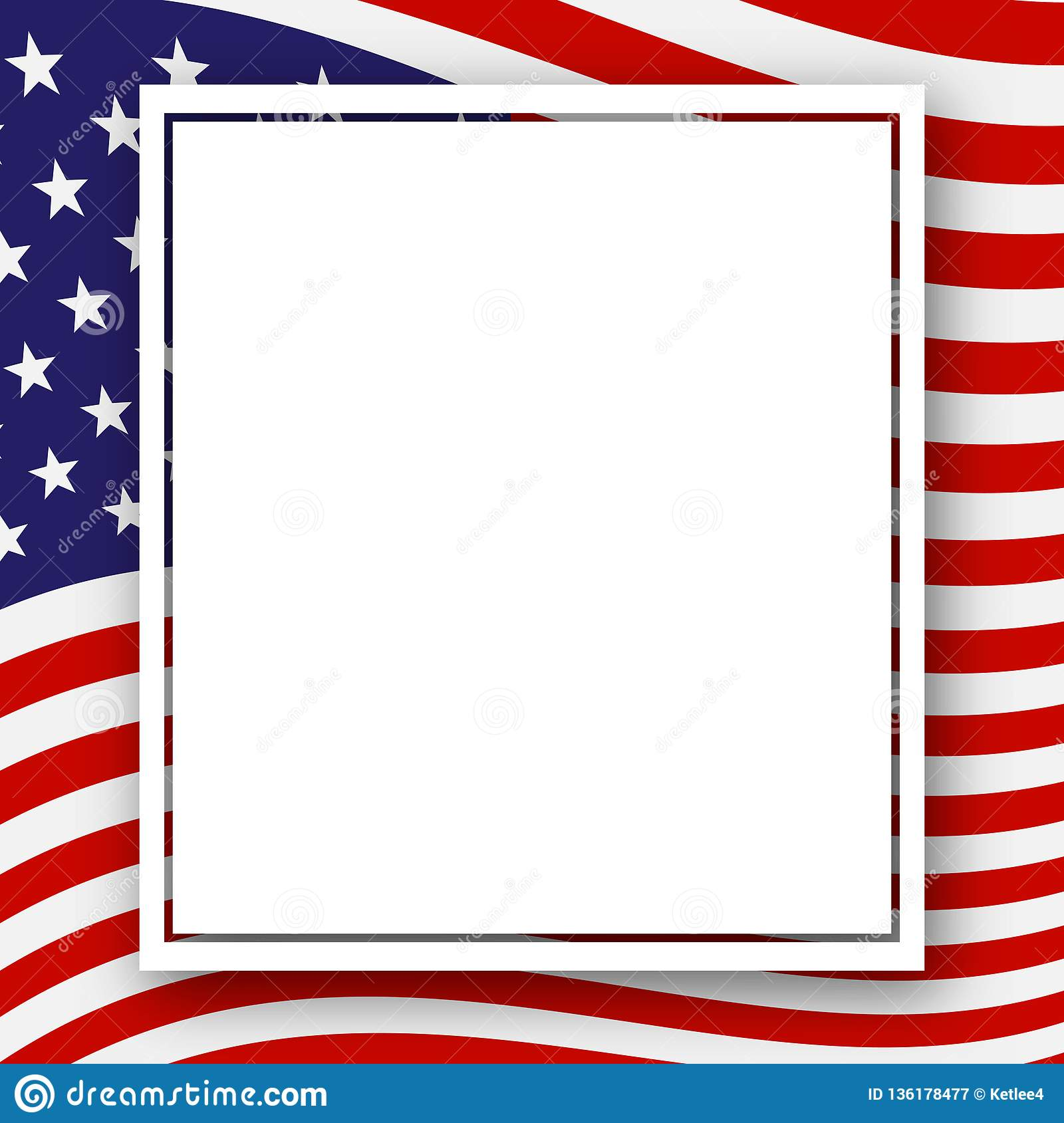 Template With A Pattern Of Stars And Stripes Of Colors Of