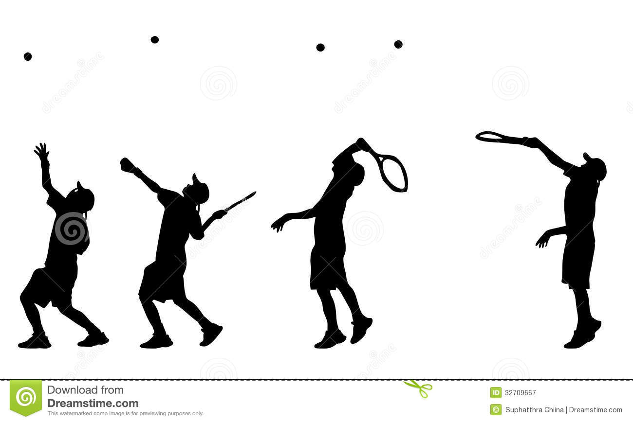 Tennis Player Serve Royalty Free Stock Photography
