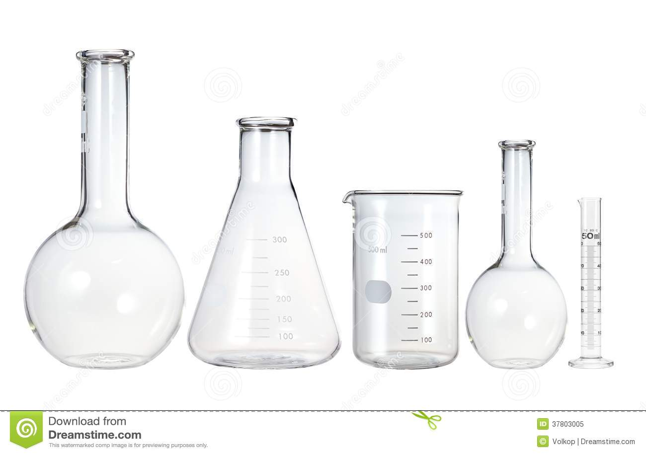 Test Tubes Isolated On White Laboratory Glassware Royalty Free Stock Photo