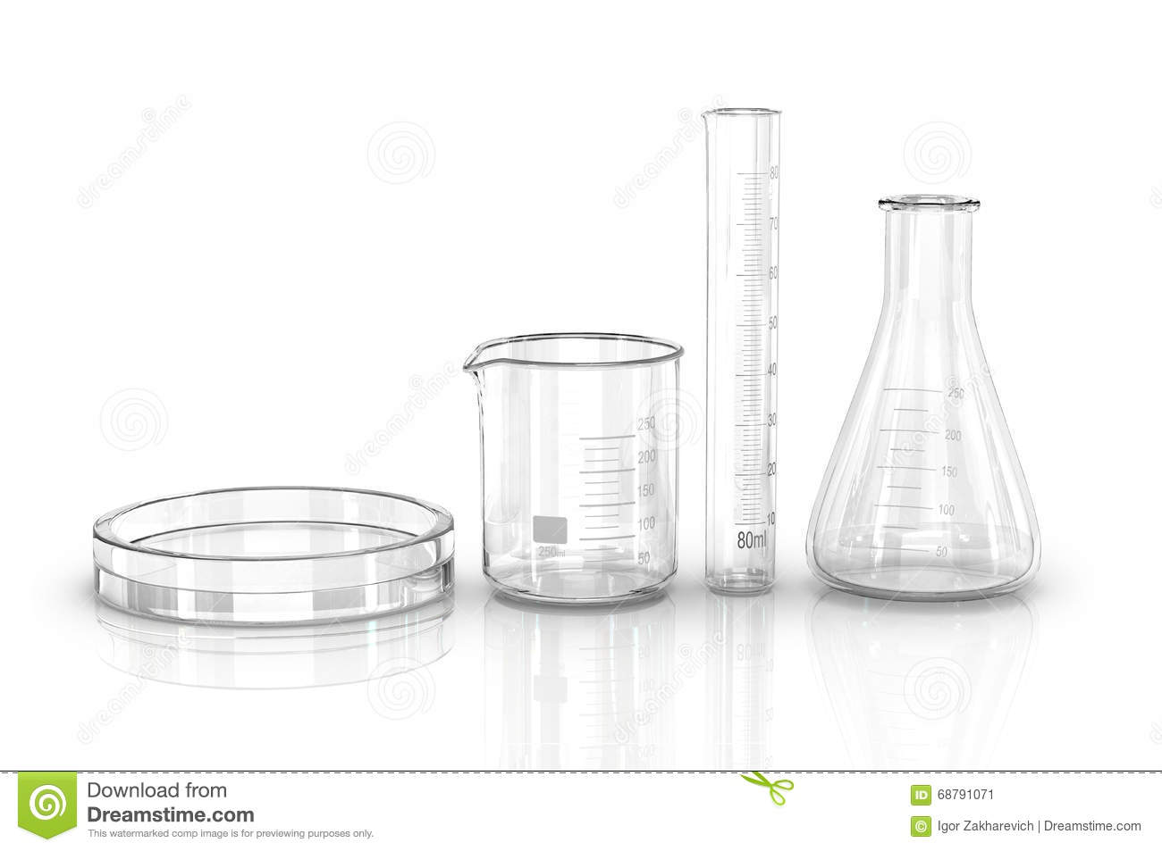 Test Tubes Isolated On White Stock Image