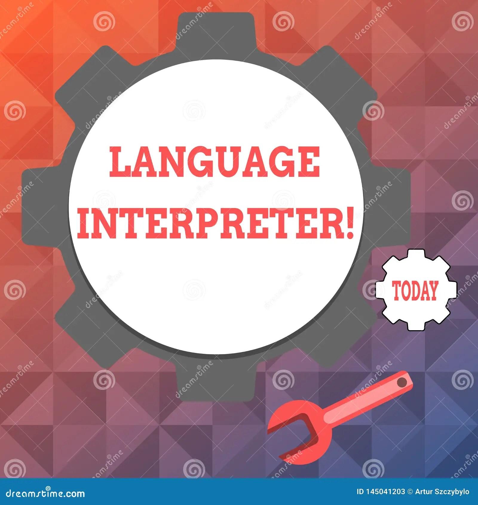 Text Sign Showing Language Interpreter Conceptual Photo