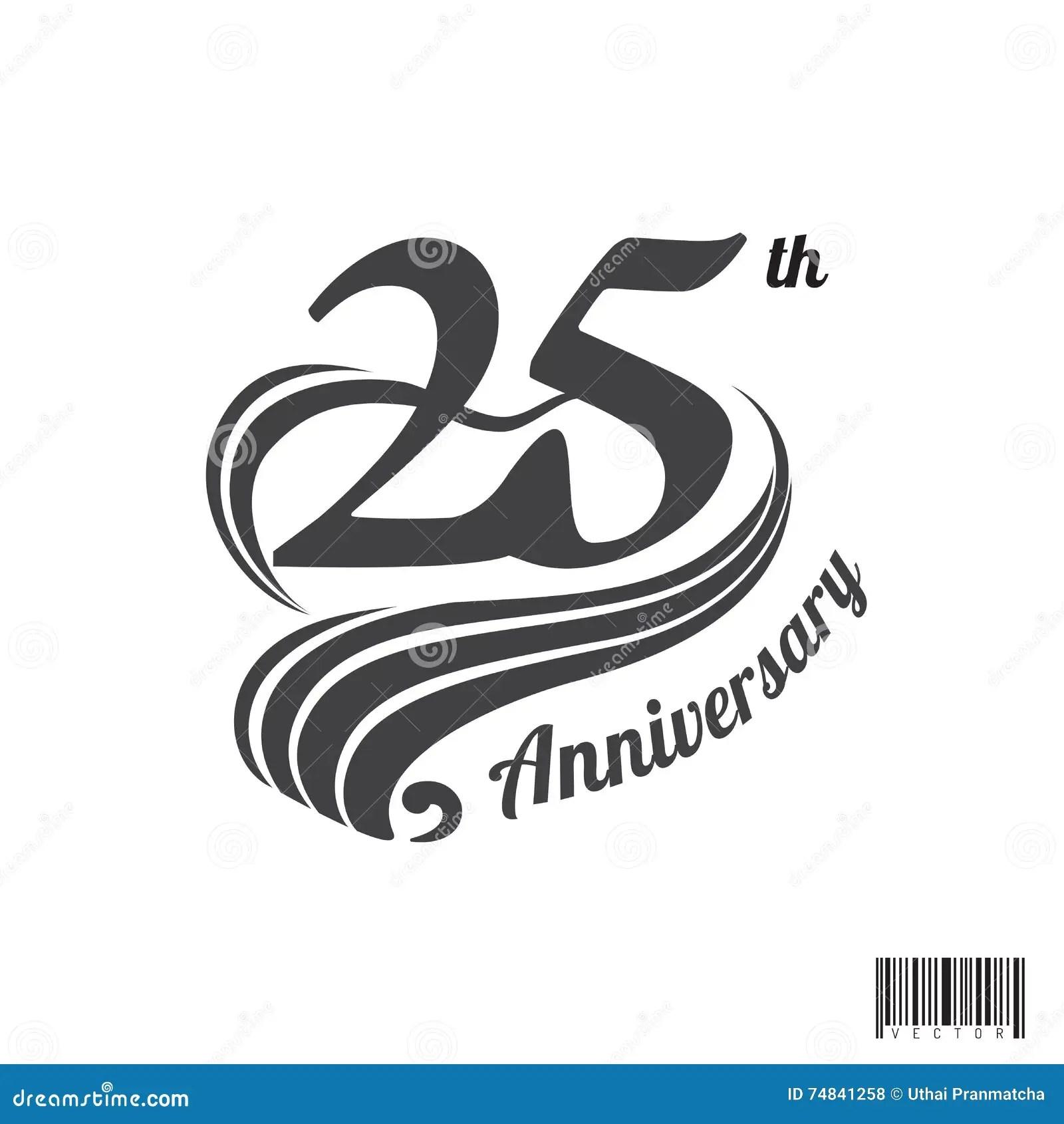 25 Th Anniversary Logo And Symbol Design Stock Vector