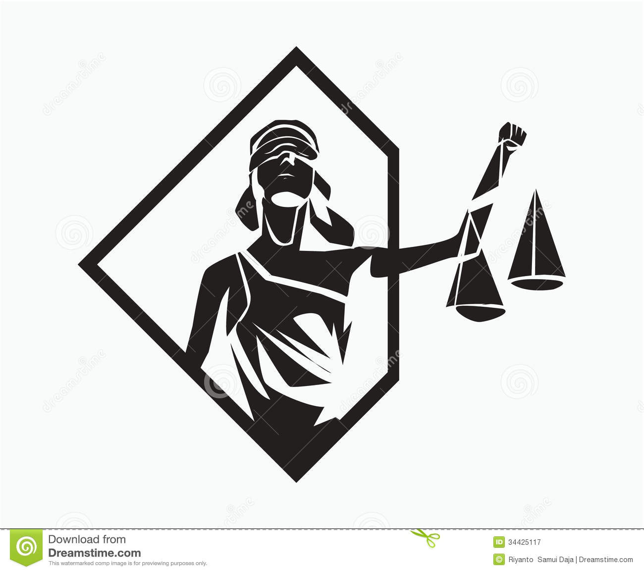 Themis Symbol Stock Vector Illustration Of Judicature
