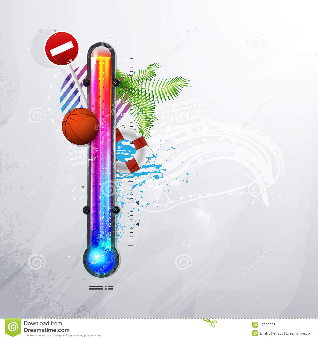 Thermometer Icon Of Hot And Cold Indicator Eps10 Royalty