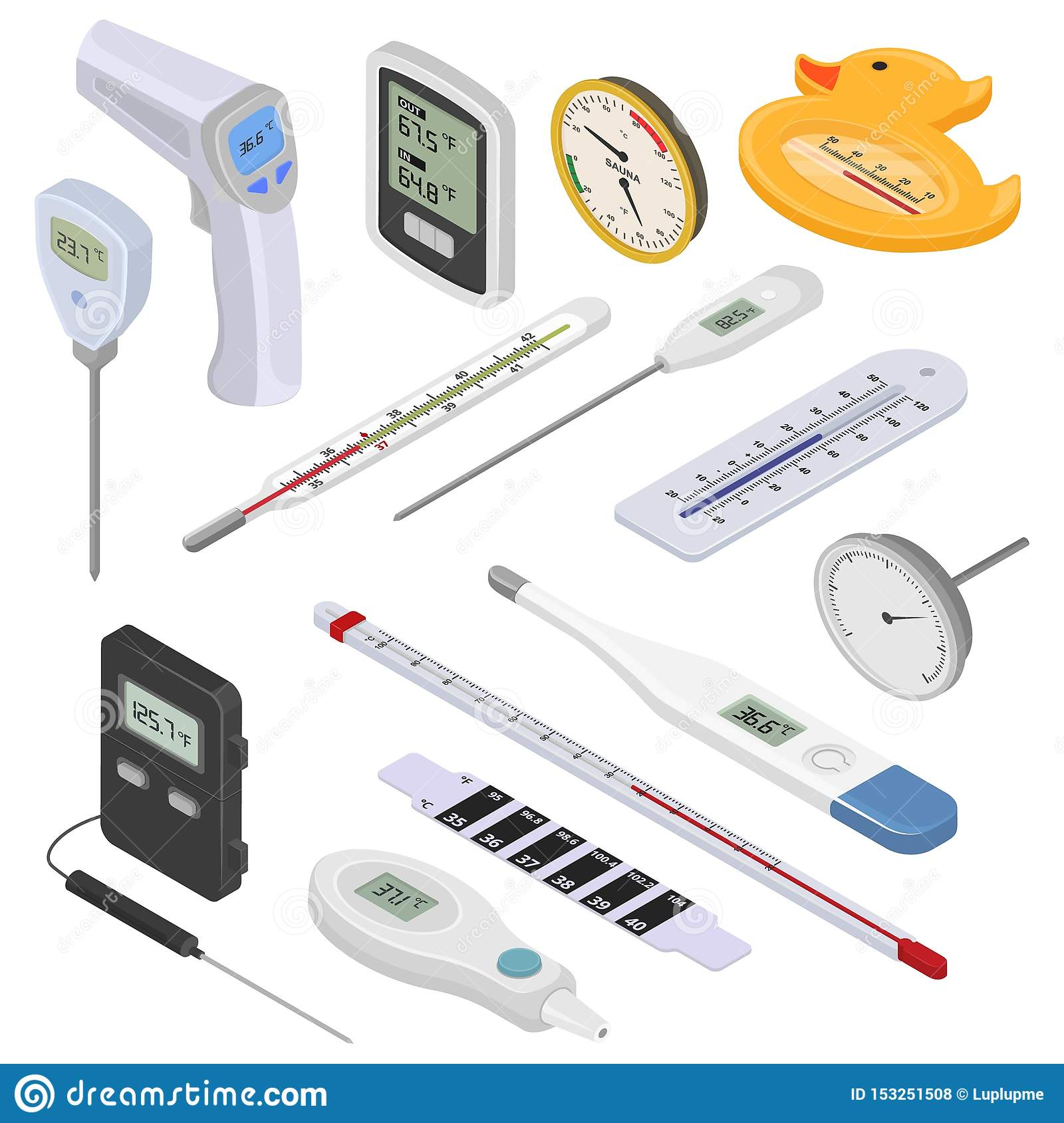 Thermometer Vector Tempering Measurement Celsius