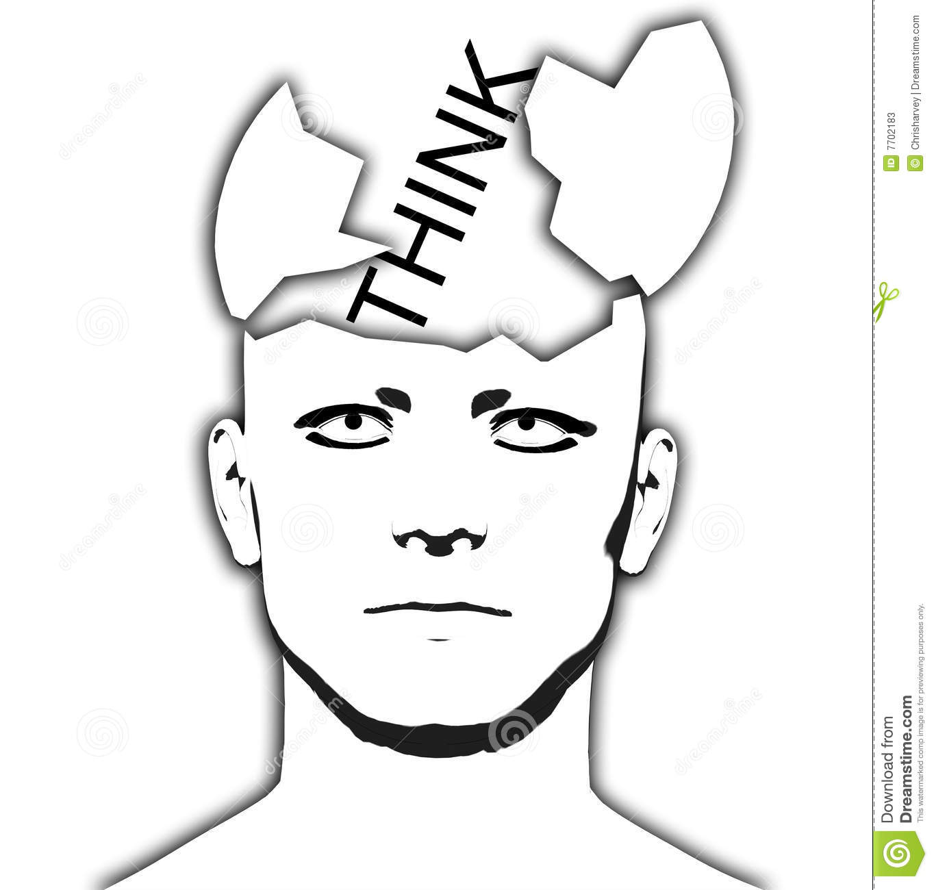 Ideas Coming Out Of Head Or Mind Cartoon Vector