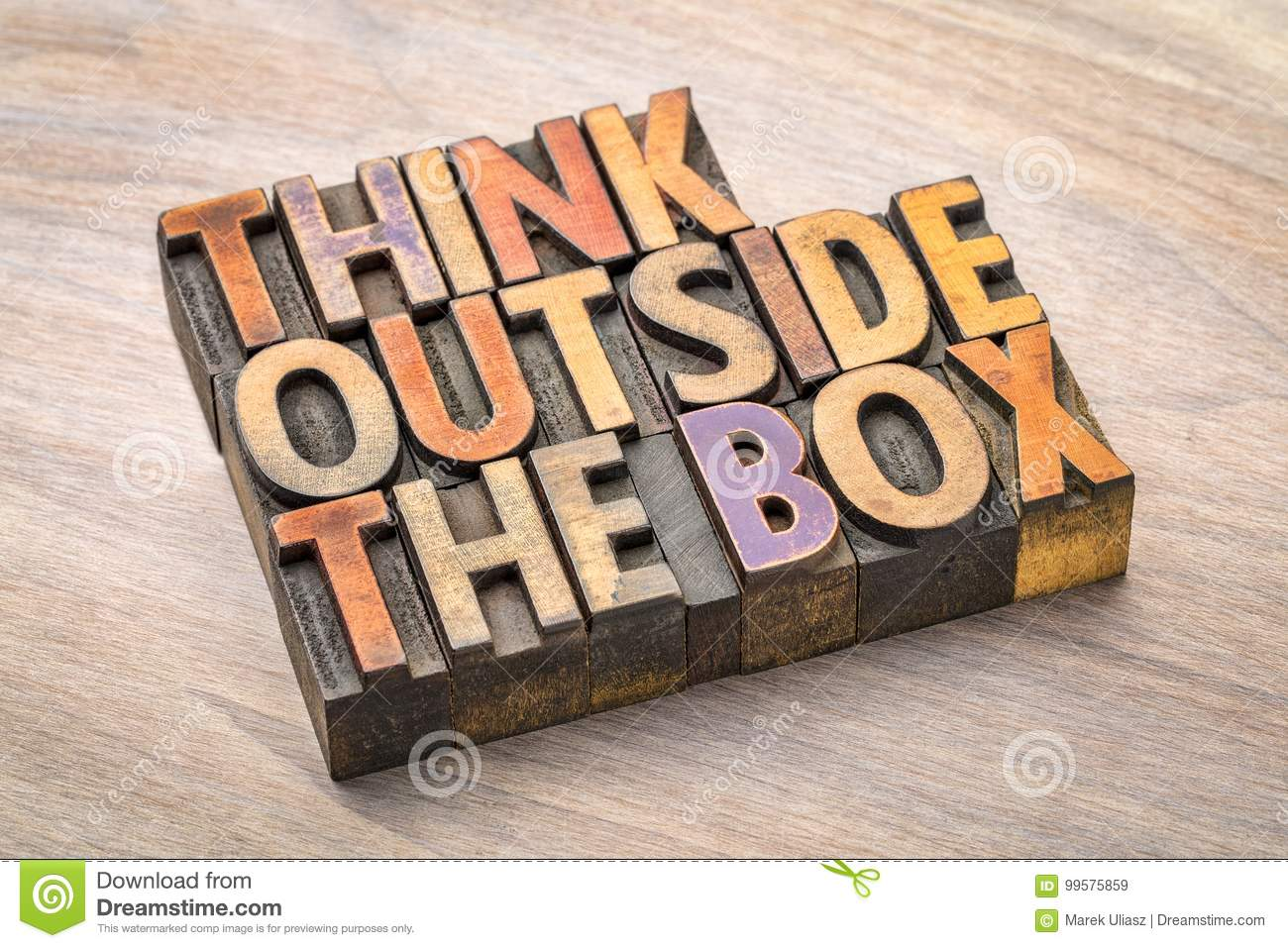 Think Outside The Box Concept Stock Image