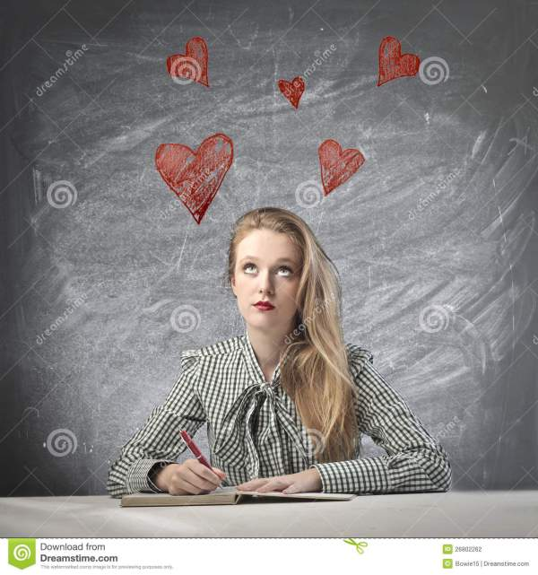 Thinking of Love stock photo. Image of book, draw ...