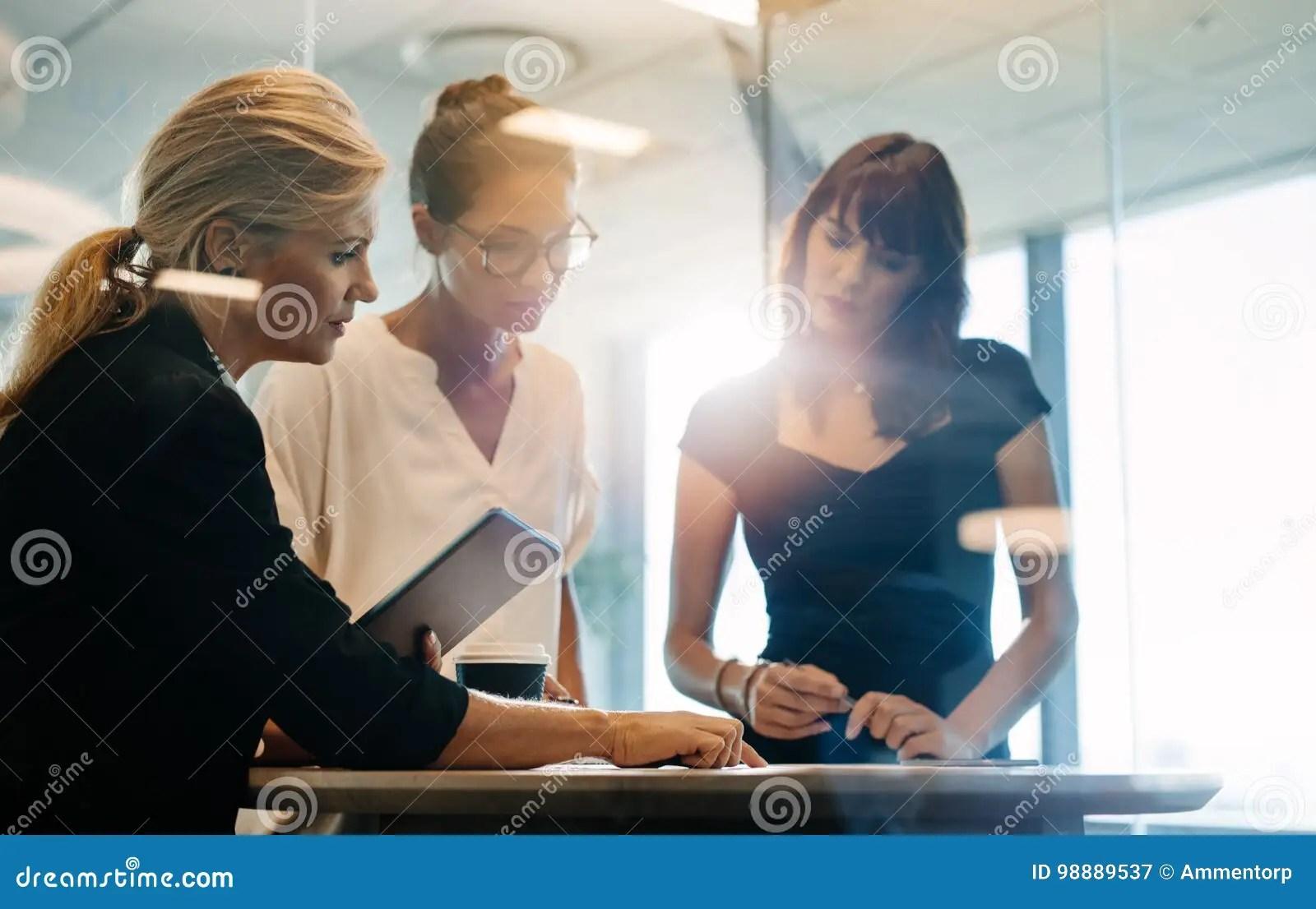 Businesswomen Brainstorming Over New Business Ideas Stock