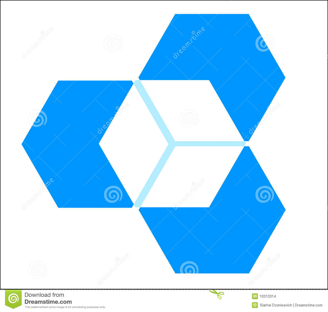 Three Dimensional Cube Stock Images
