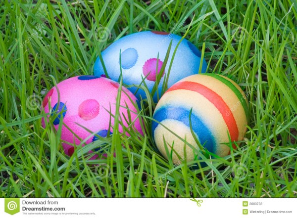 Three Hidden Easter Eggs stock photo. Image of coloured ...