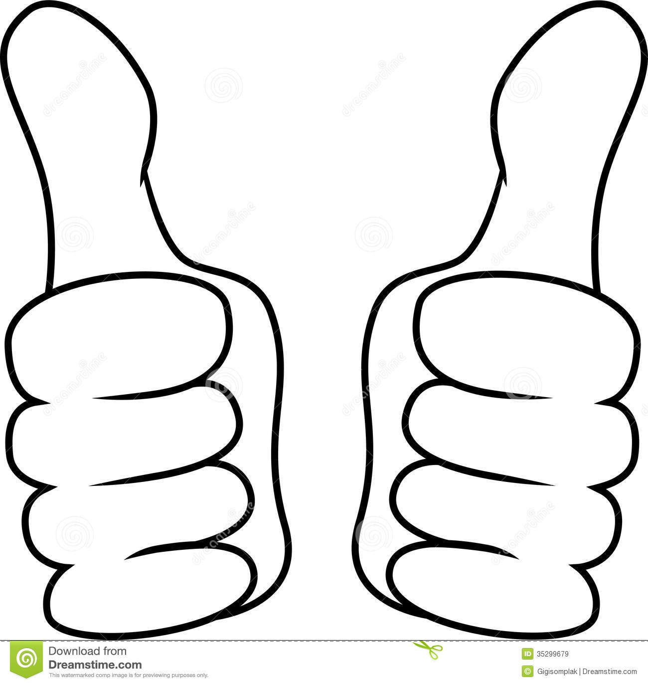 Thumb Up Left And Right Hand Royalty Free Stock Images