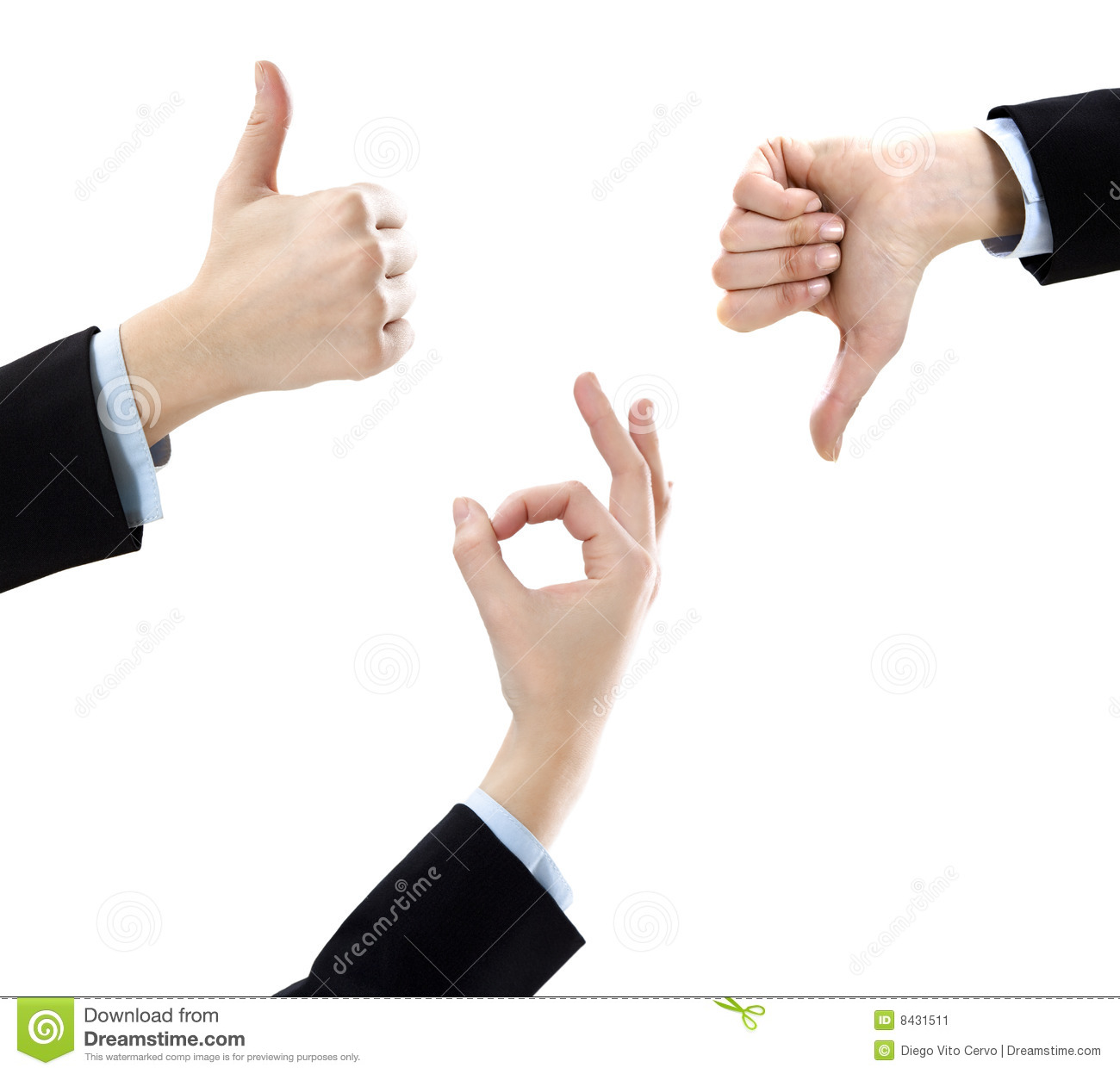 Thumbs Up And Down Stock Image