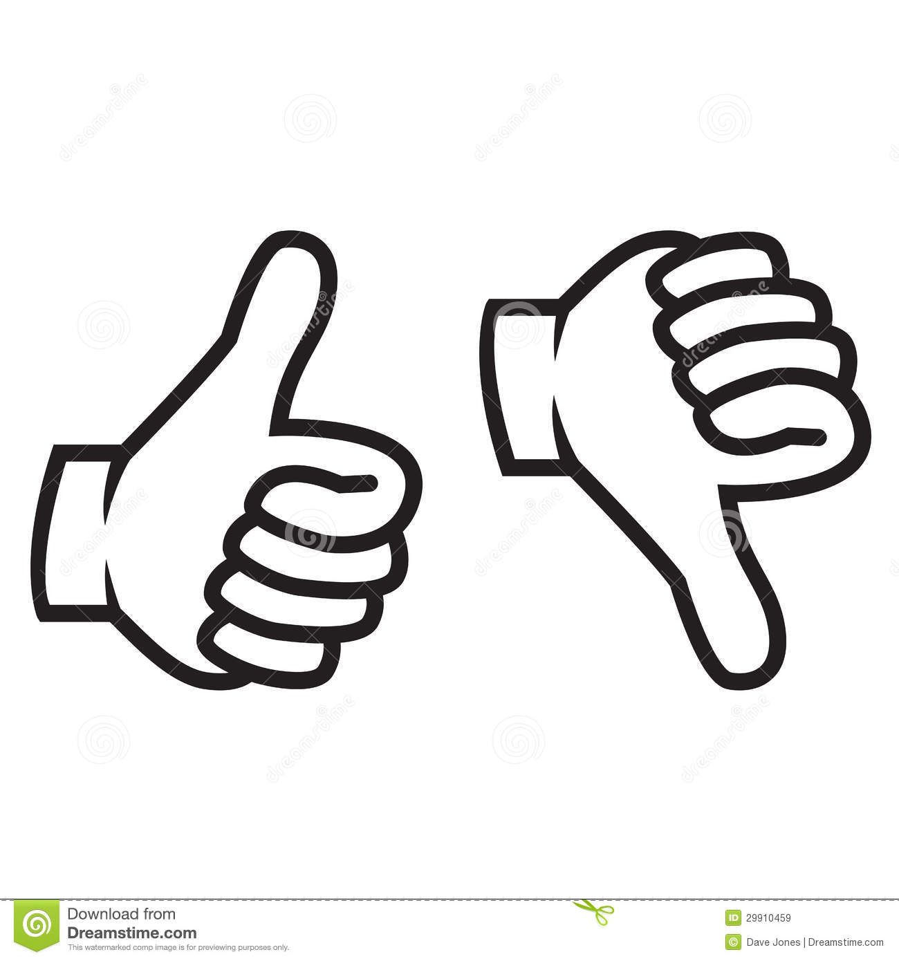 Thumbs Up And Down Gesture Stock Vector Illustration Of