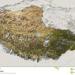 Tibet Relief Map Stock Illustration Illustration Of Geography 5567749