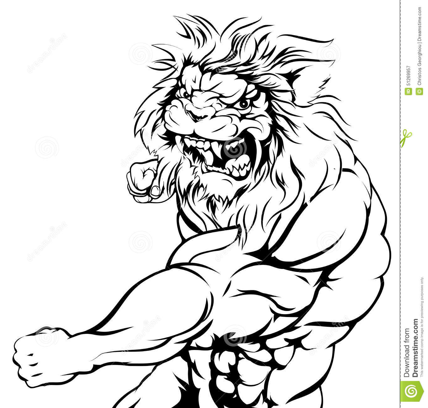 Tiger Character Fighting Stock Vector