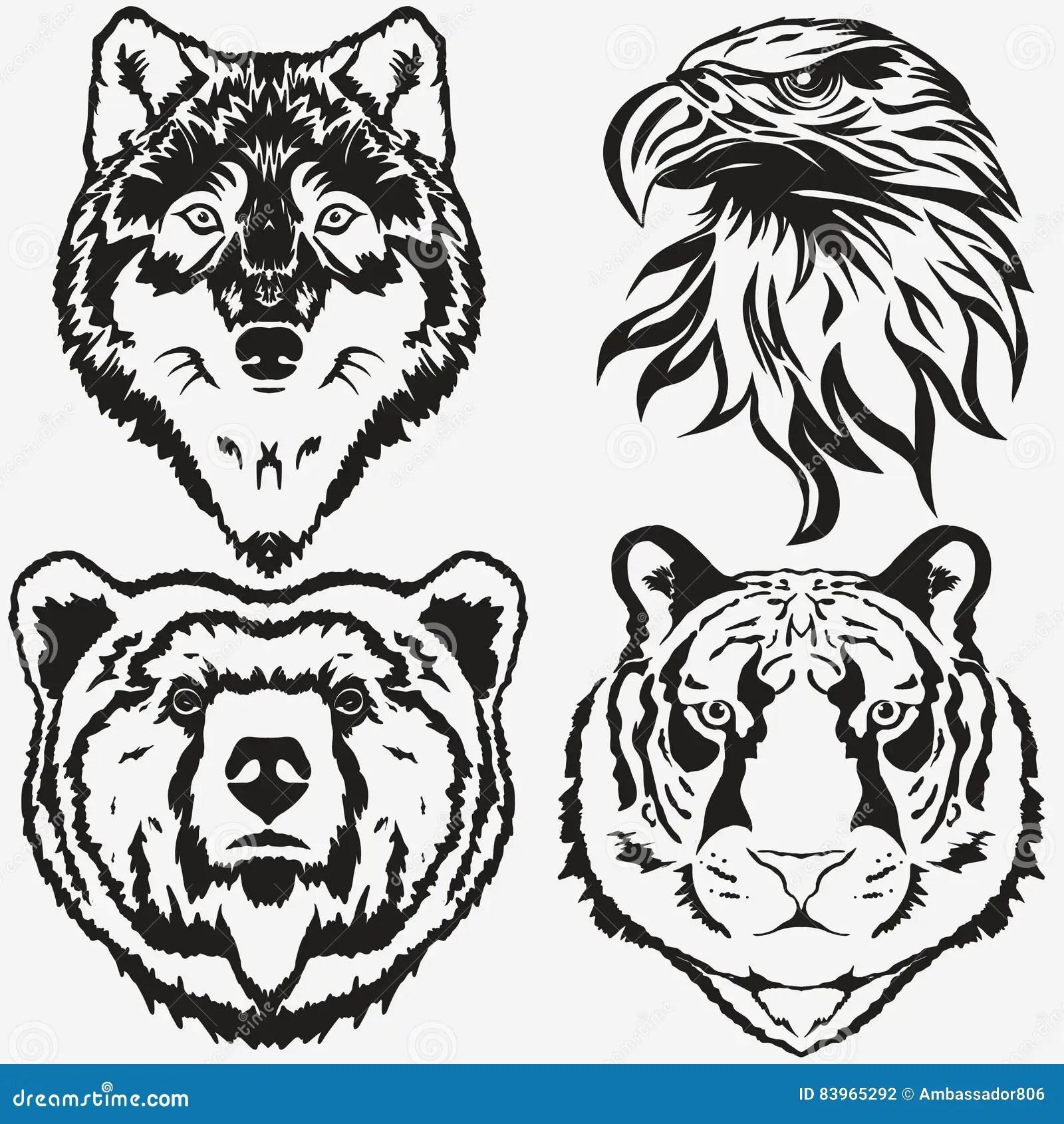 Vector Wild Wolf For Tattoo T Shirt Sport Logo Cartoon