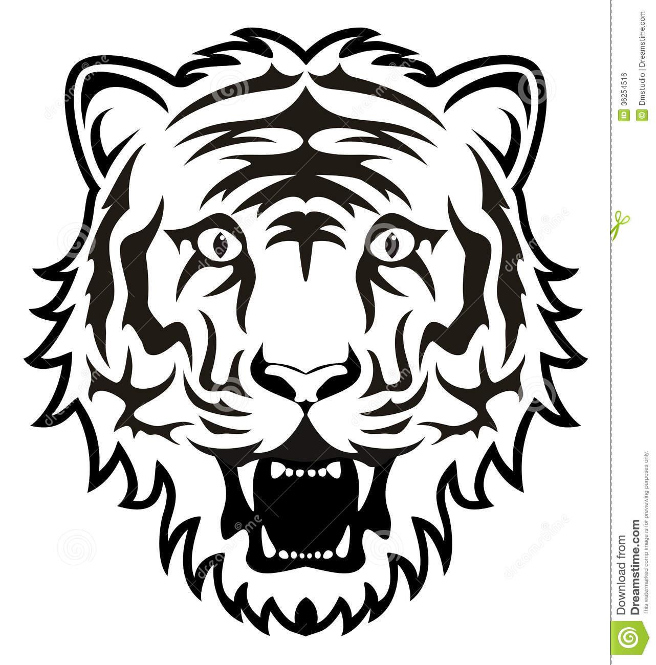 Vector Tiger Face Stock Vector Illustration Of Artistic