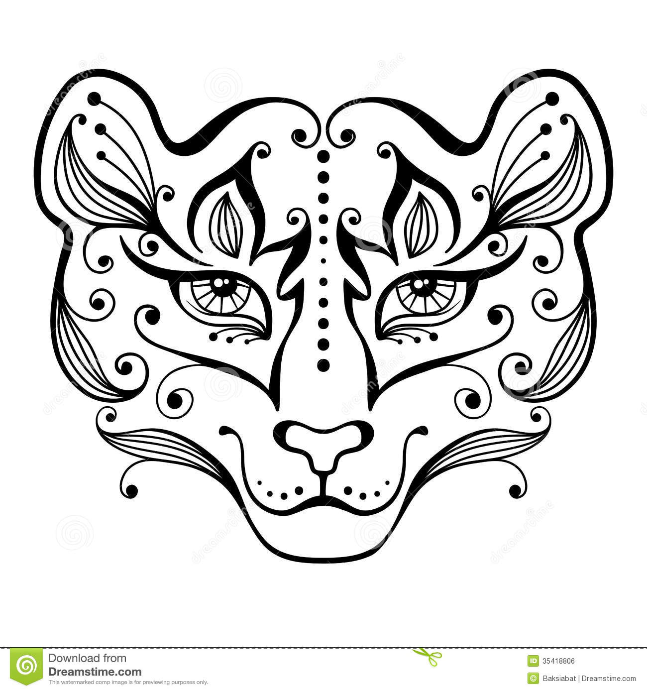 Tiger Tattoo Stock Vector Illustration Of Black Sign