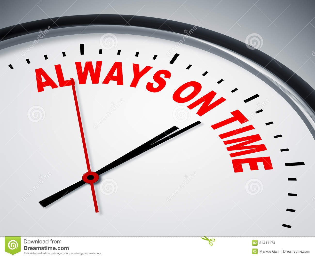 Always On Time Stock Images