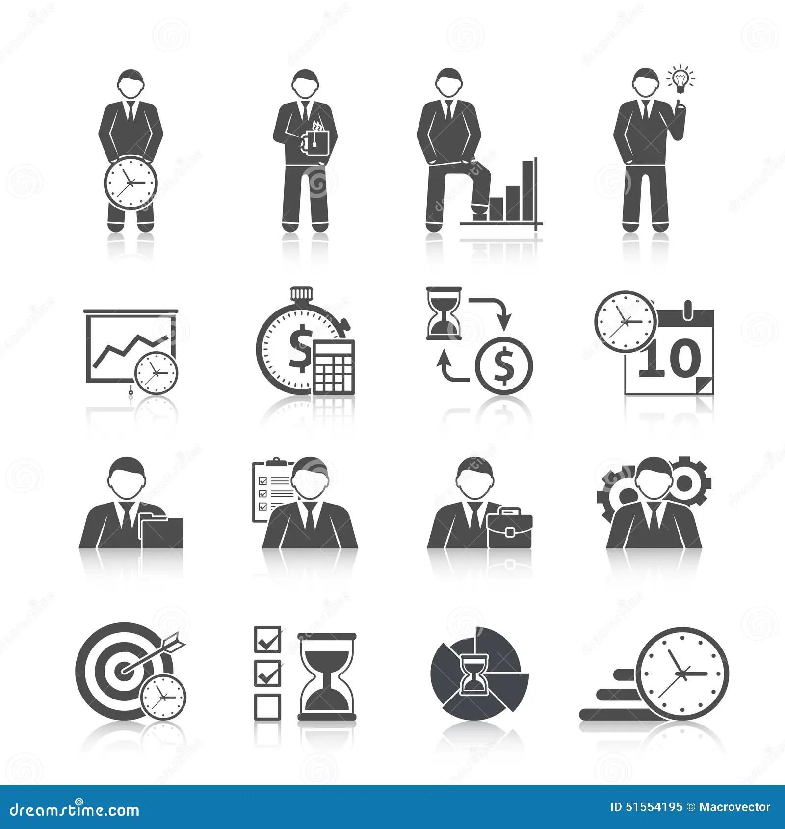 100 Management Icons Set Cartoon Style Cartoon Vector