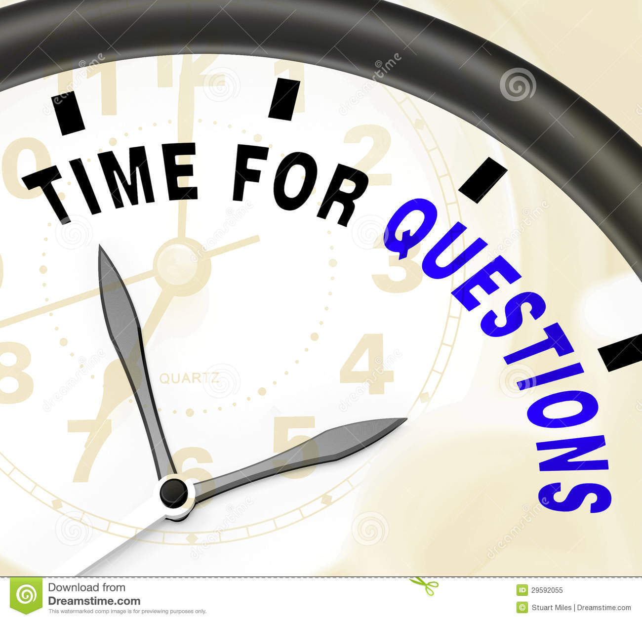 Time For Questions Message Showing Answers Needed Stock Illustration