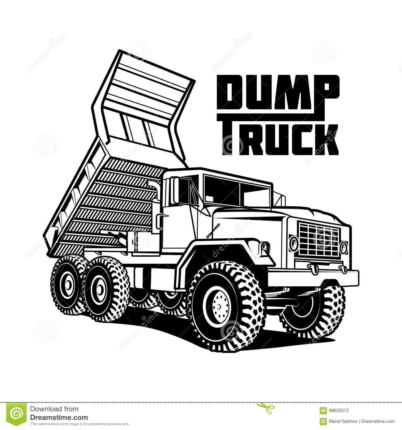 Tipper Truck Illustration Isolated On White Background
