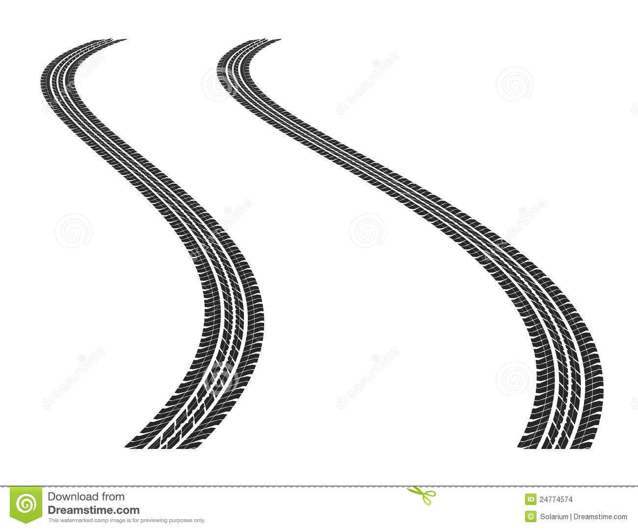Tire Tracks Stock Vector Illustration Of Imprints Fast