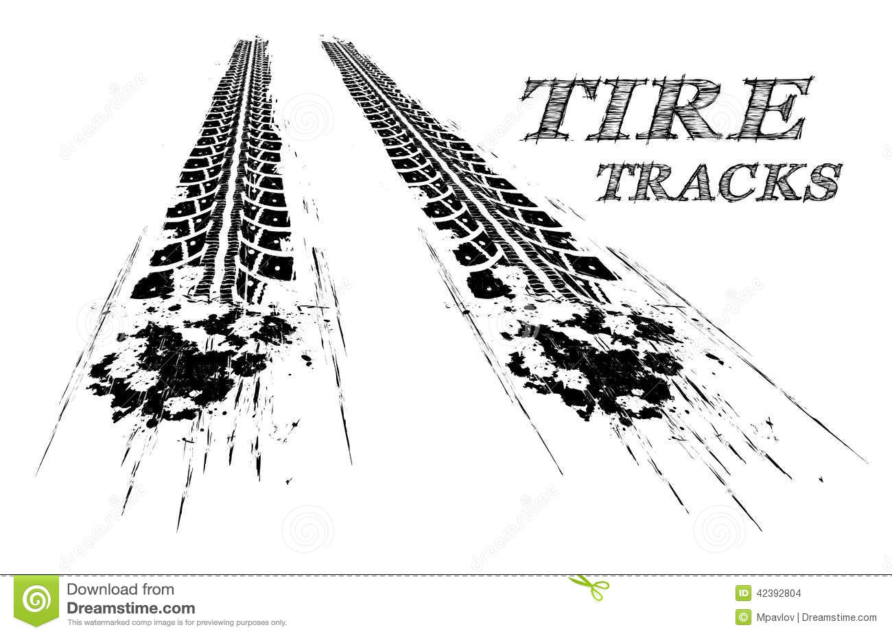 burnout tire tracks clip art