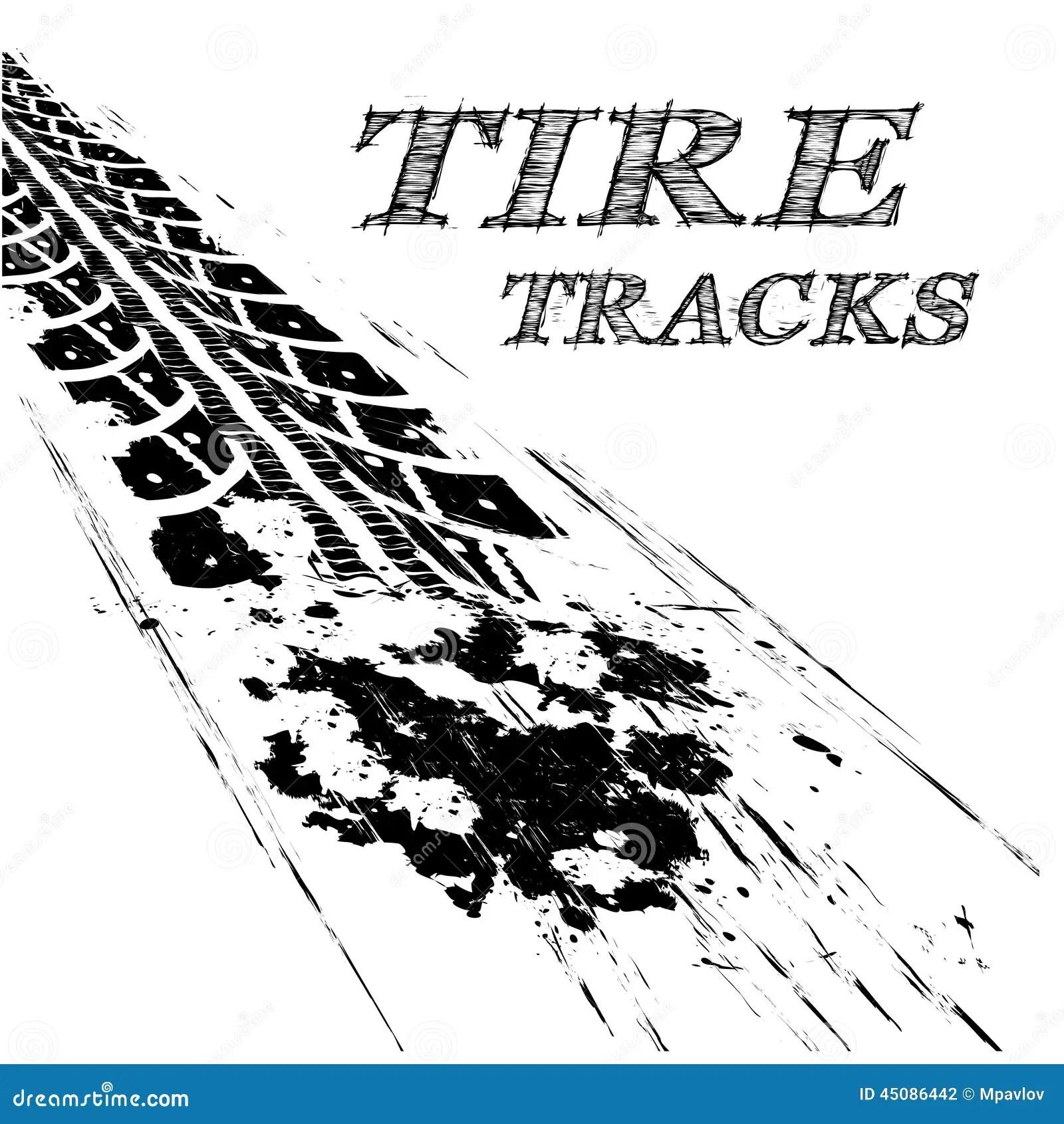 Tire Tracks Stock Vector