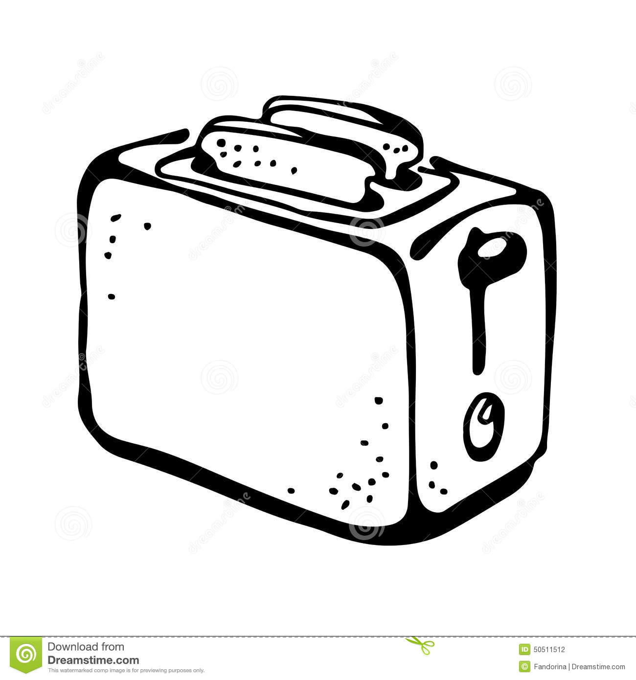 Toaster Drawing Stock Vector Illustration Of Design