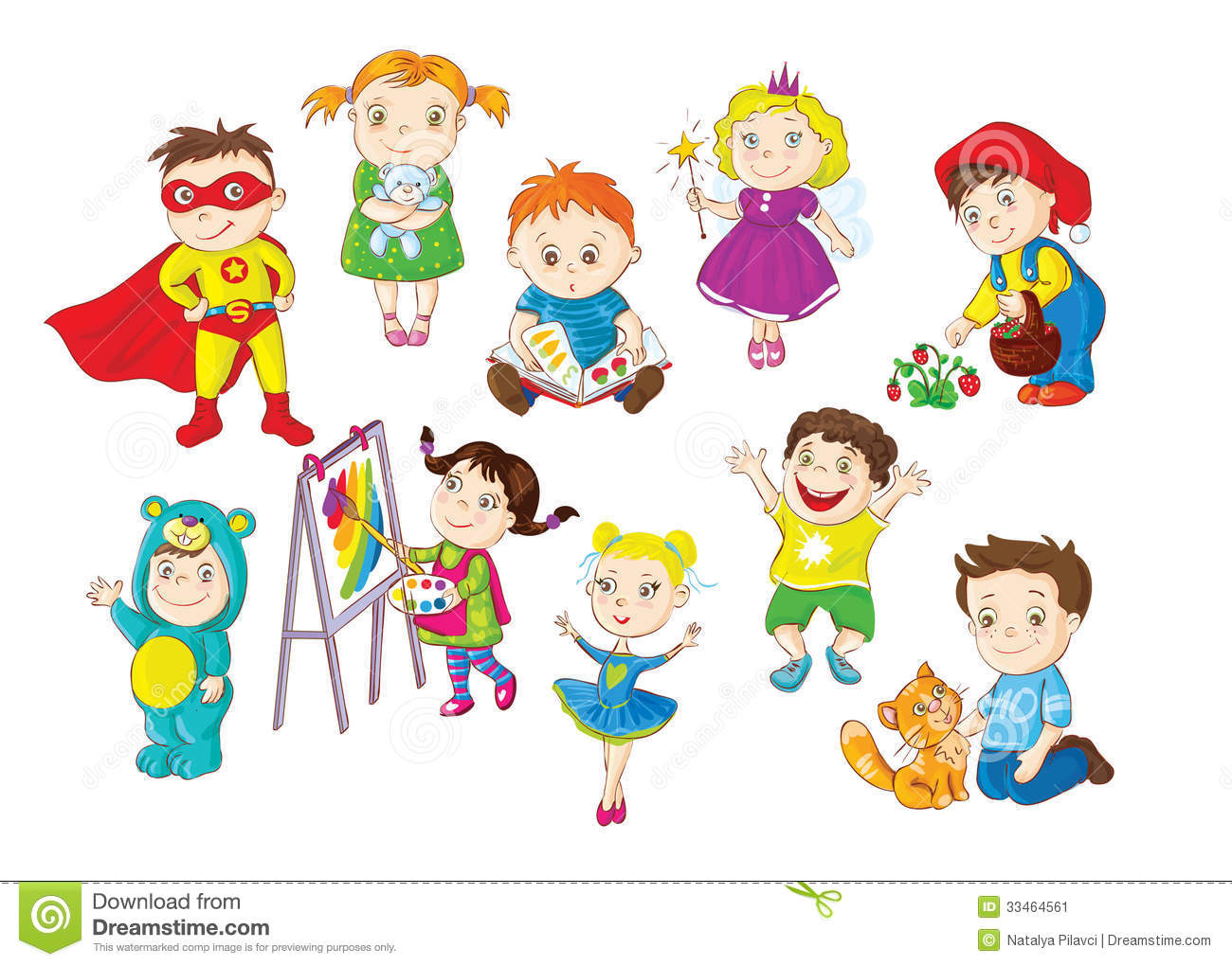Toddlers Activities Stock Vector Illustration Of Bright