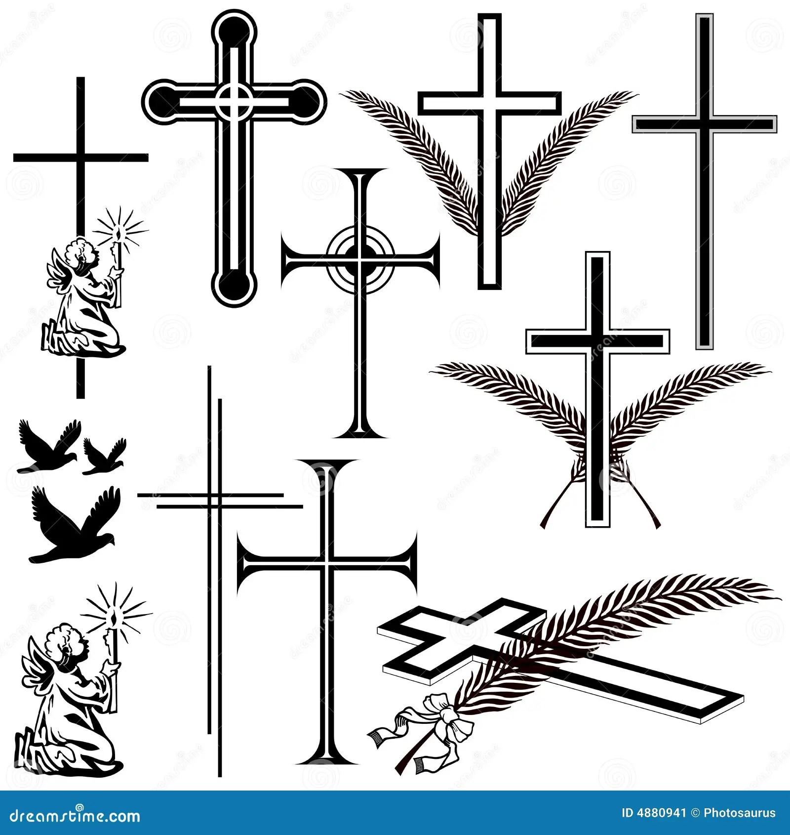 Todessymbole Vektor Abbildung Illustration Von