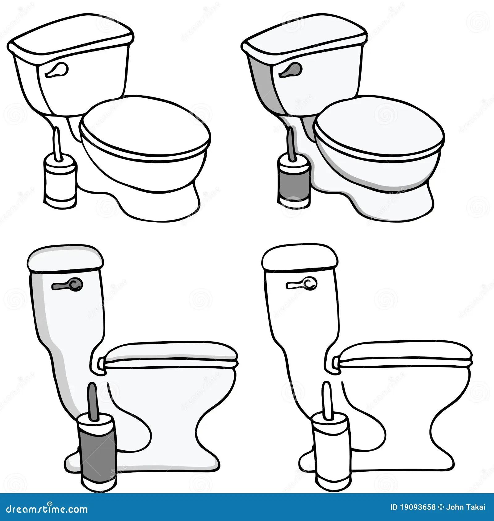 Toilet Commode Set Royalty Free Stock Photos