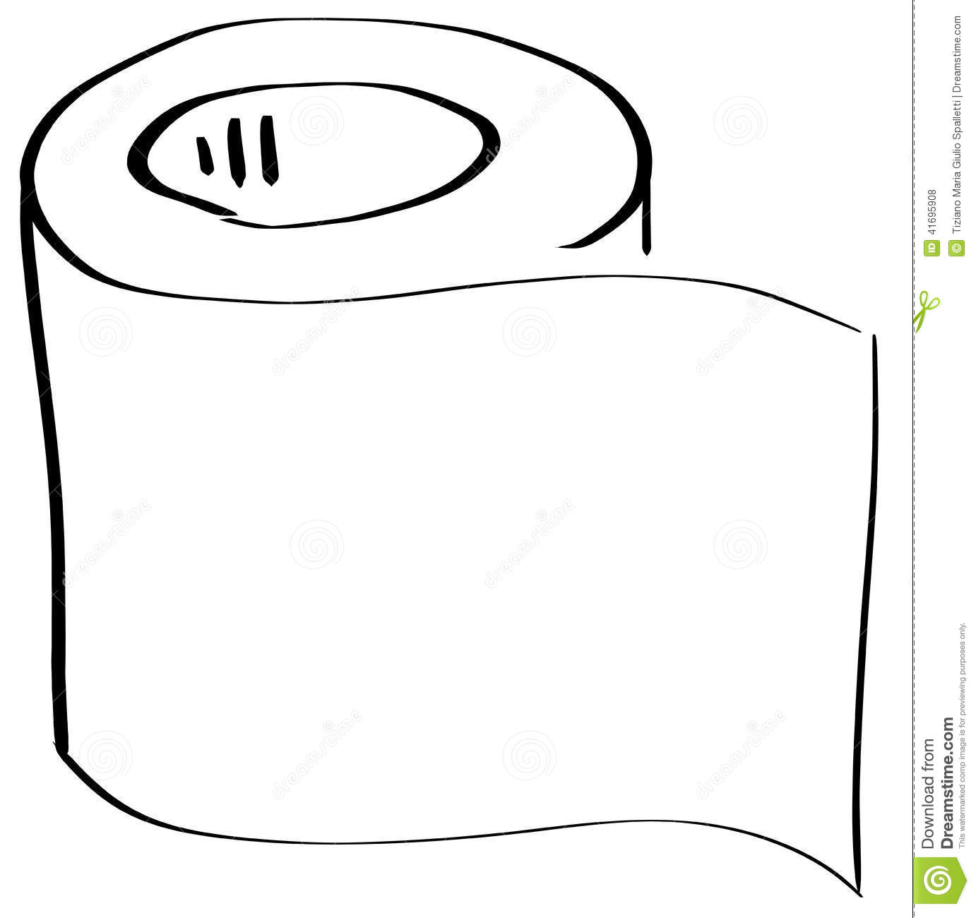 Stylized Roll Of Toilet Paper Isolated Stock Illustration