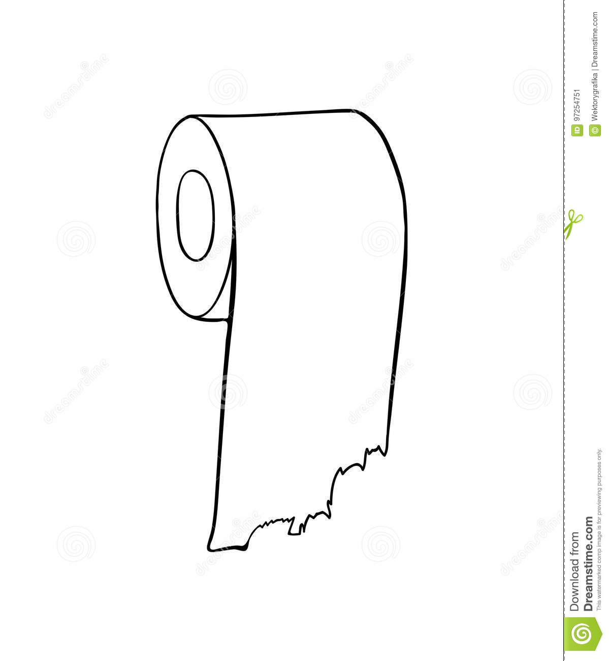 Toilet Paper Icon Icon Cartoon Cartoon Vector