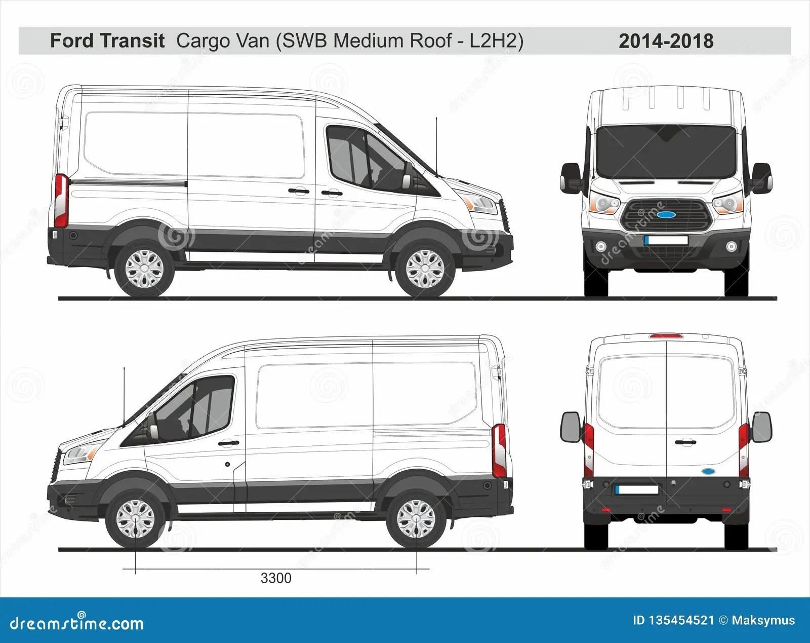 Toit Moyen L2h2 2014 2018 De Ford Transit Cargo Van Swb