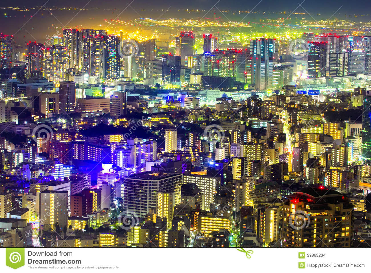 Tokyo Cityscape Scene Night Time From Sky View Of The Roppongi H Editorial Stock Image Image