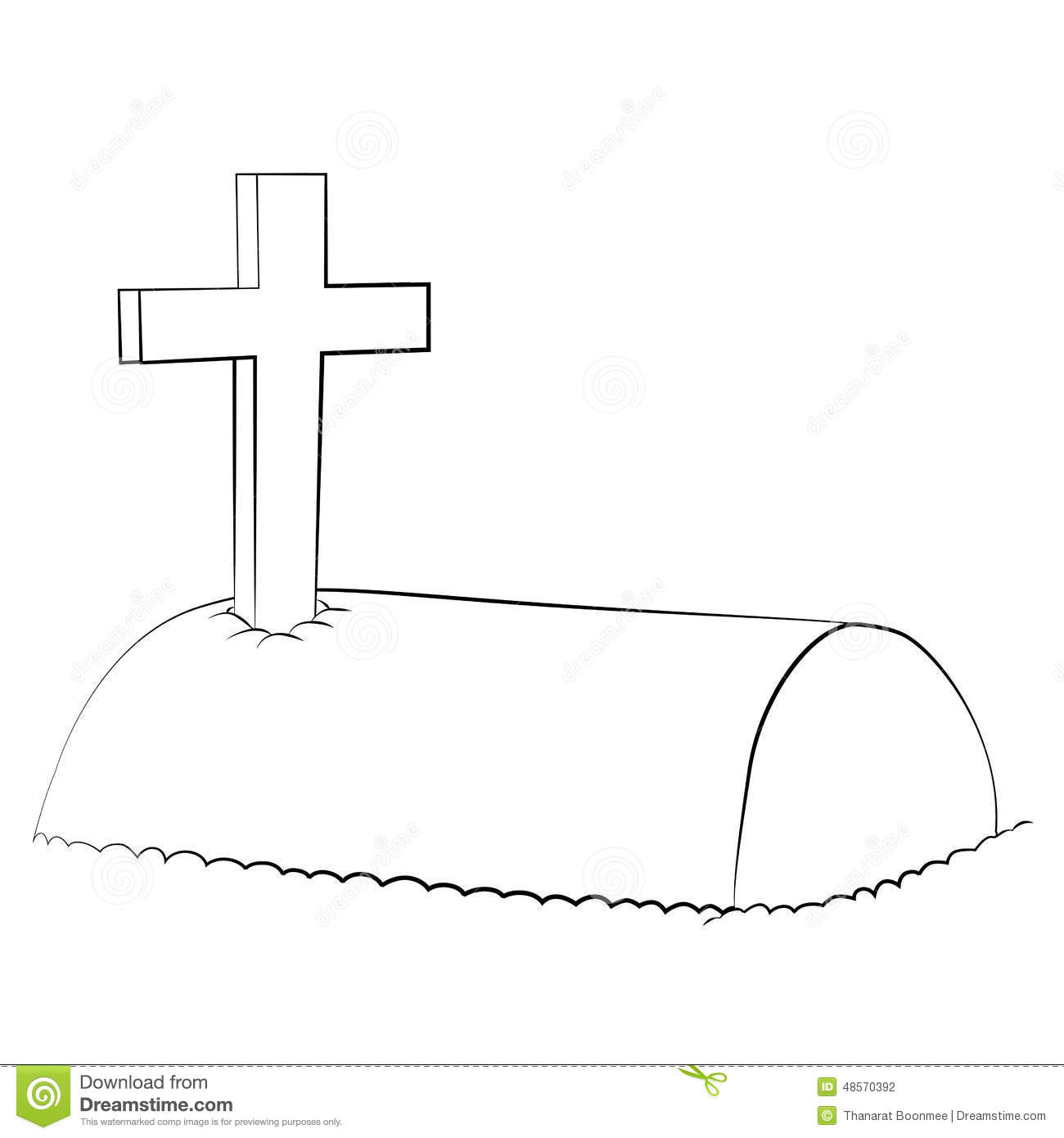 Tomb Stock Vector