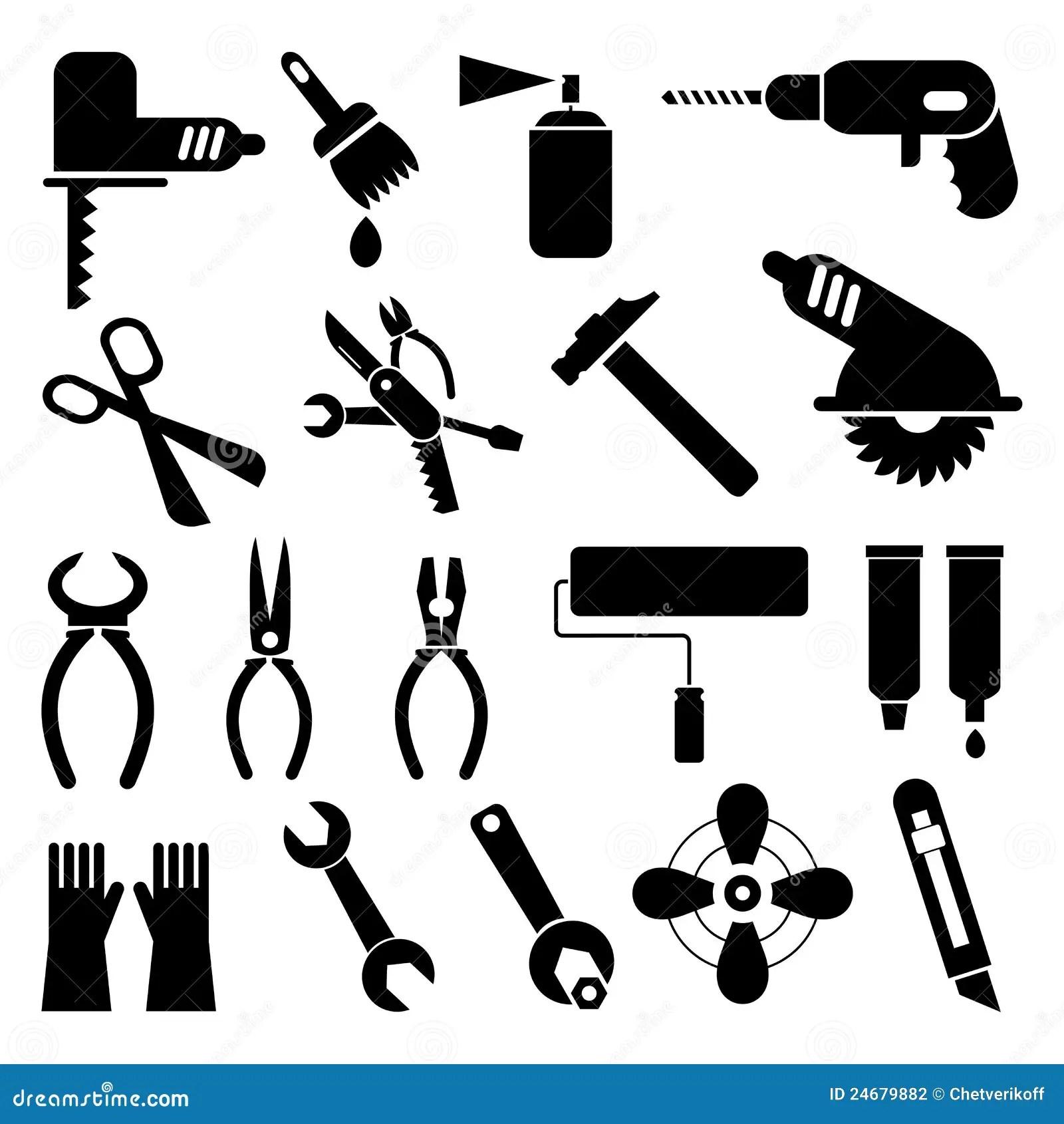 Tool Icons Stock Vector Image Of Pliers Scissors Repair
