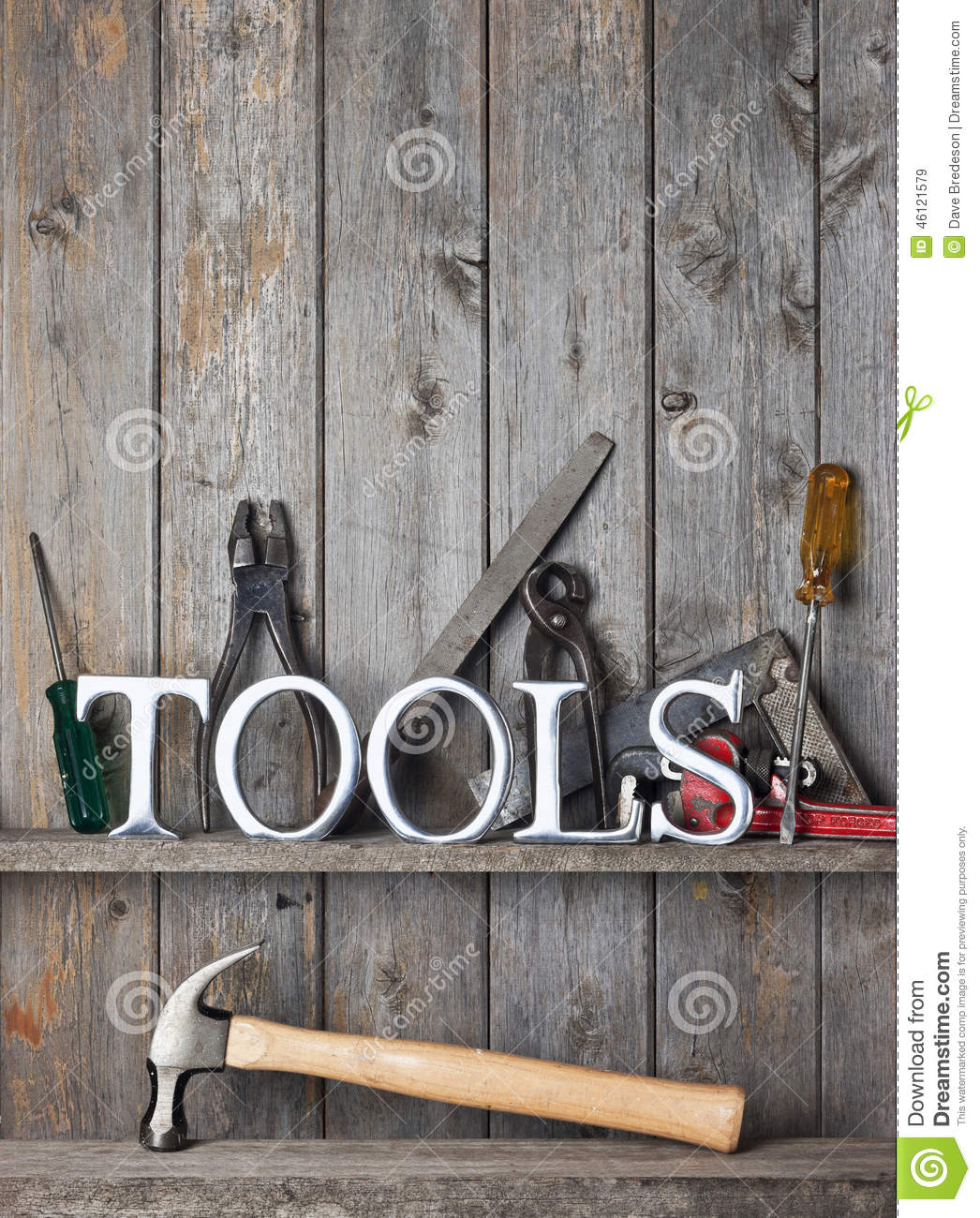 Tools Rustic Wood Background Stock Image Image 46121579