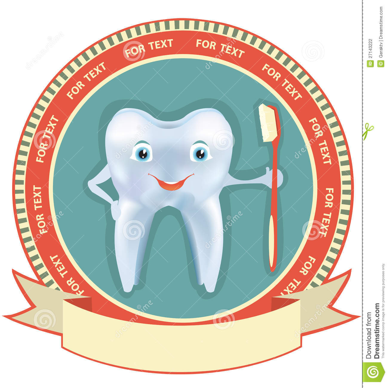 Tooth Label Setctor Healthy Symbol Stock Photography