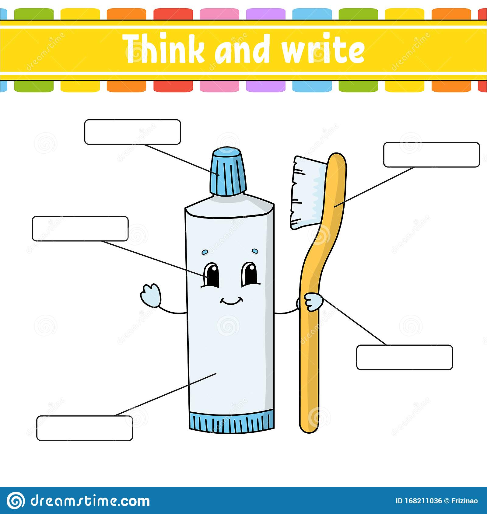 Toothpaste Think And Write Body Part Learning Words