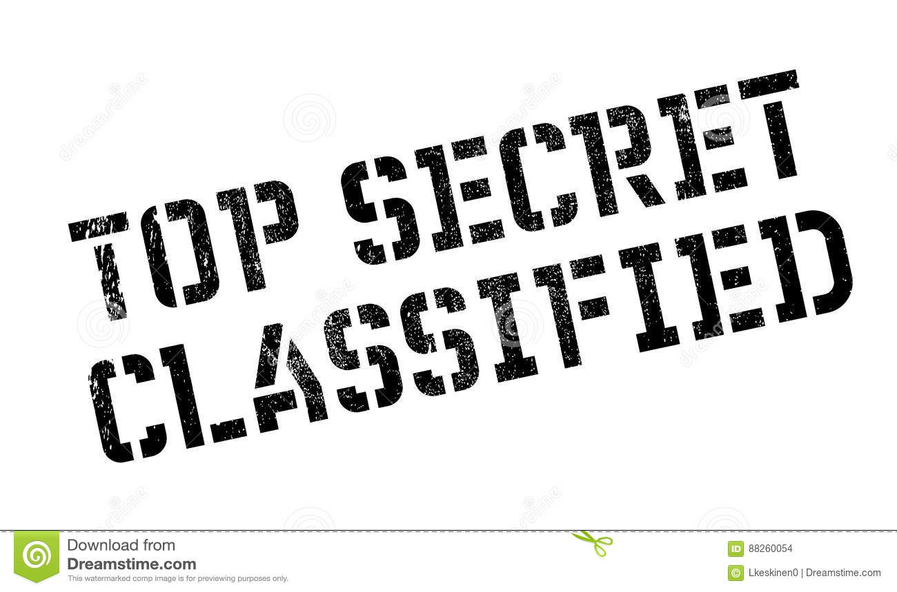 Top Secret Classified Business And Gov Concept Royalty