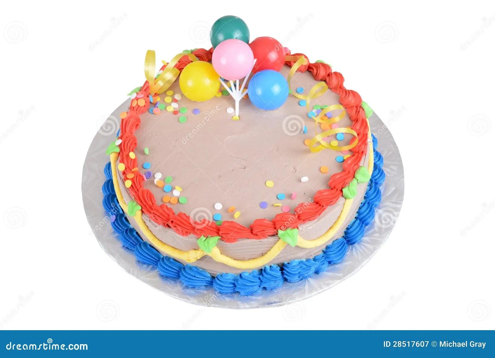 Top View Chocolate Birthday Cake Royalty Free Stock