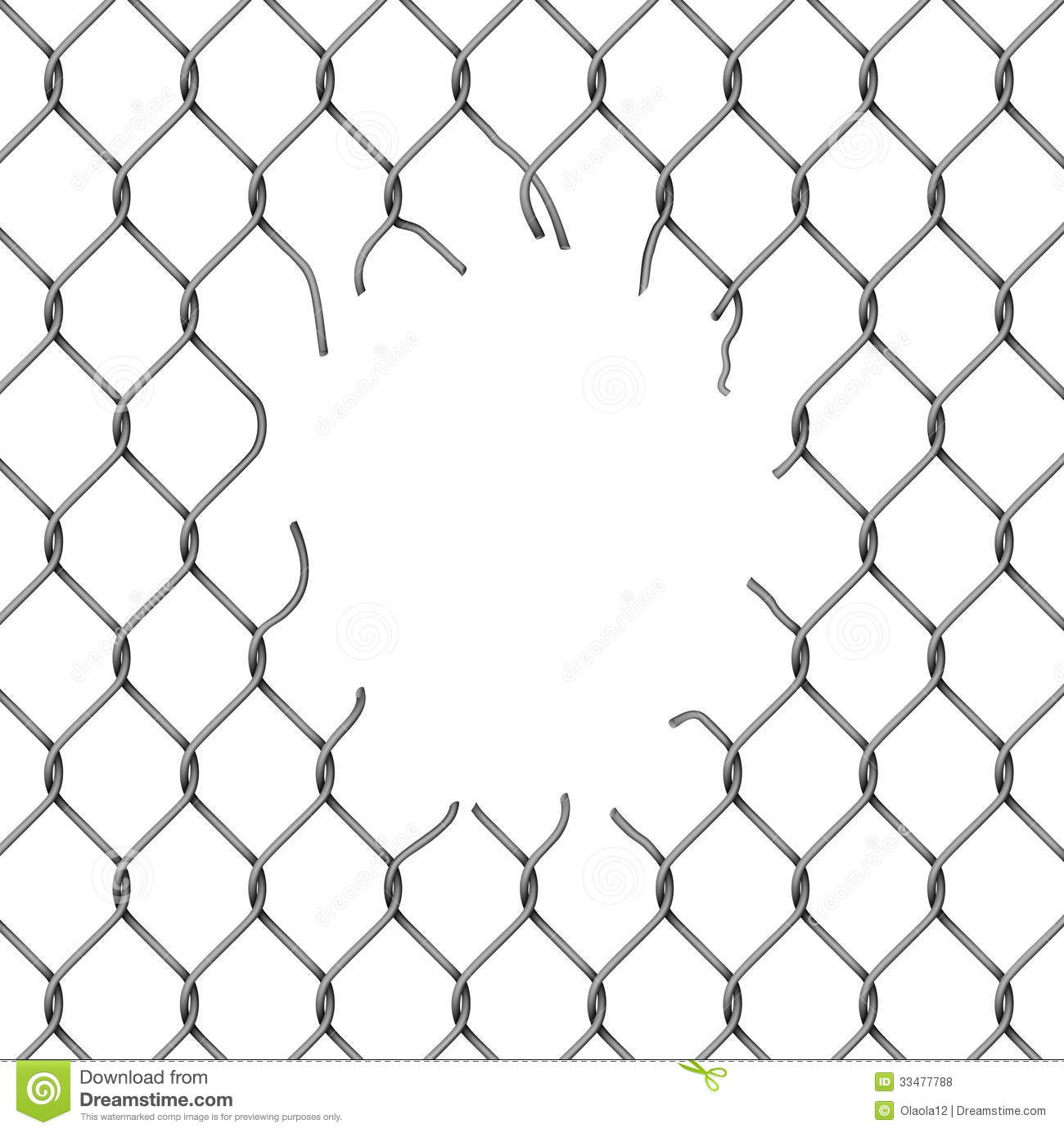 Torn Metal Mesh Stock Vector Illustration Of Frame Boundary