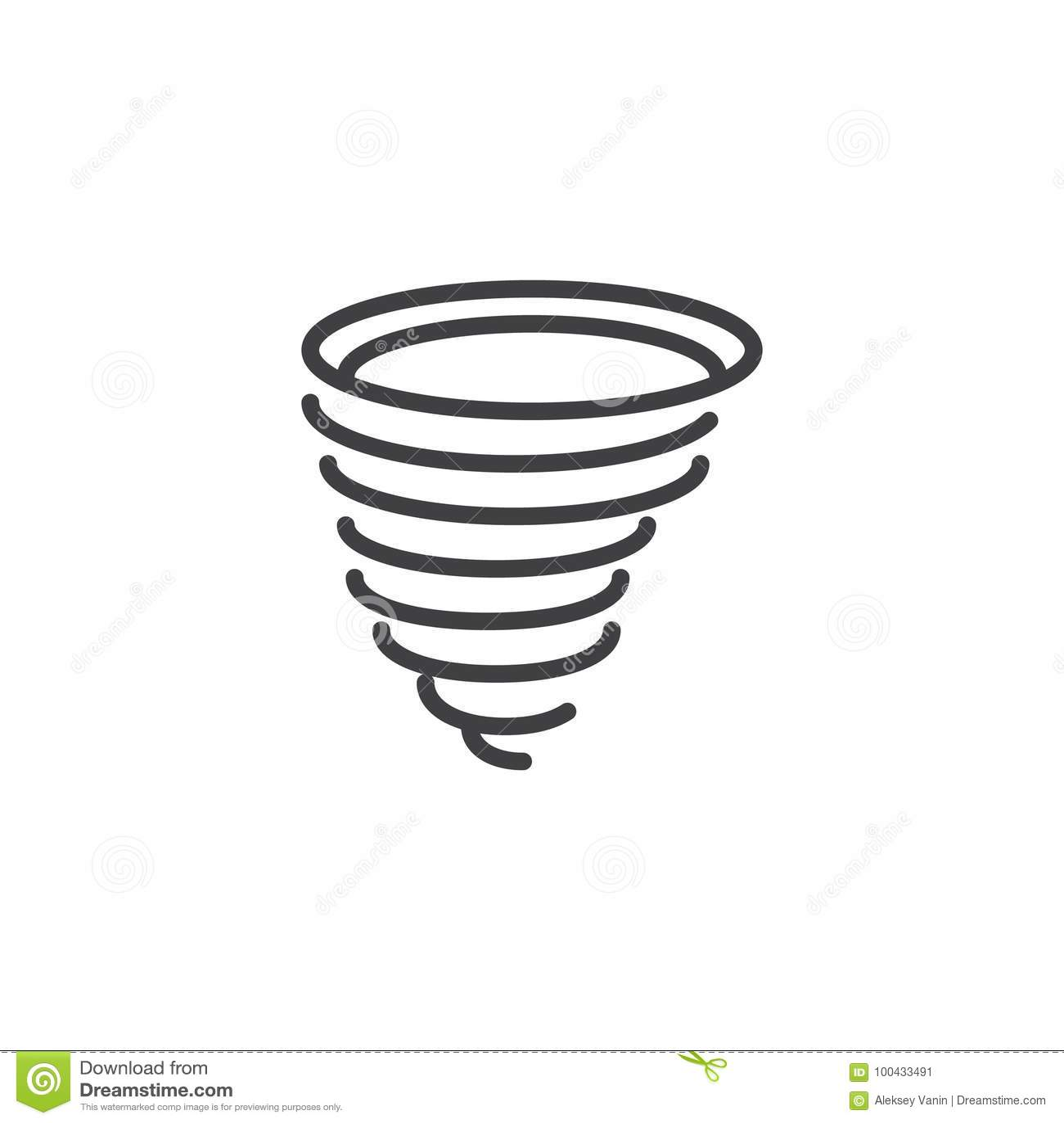 Tornado Line Icon Stock Vector Illustration Of Pixel