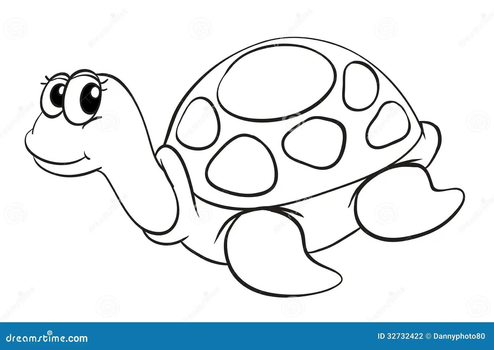 A Tortoise Sketch Stock Vector Illustration Of